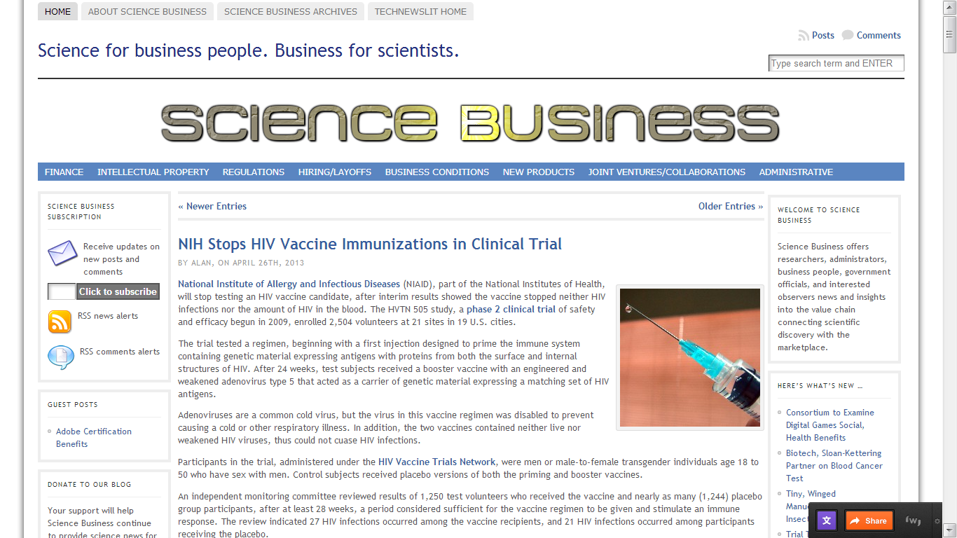 Science Business screen shot