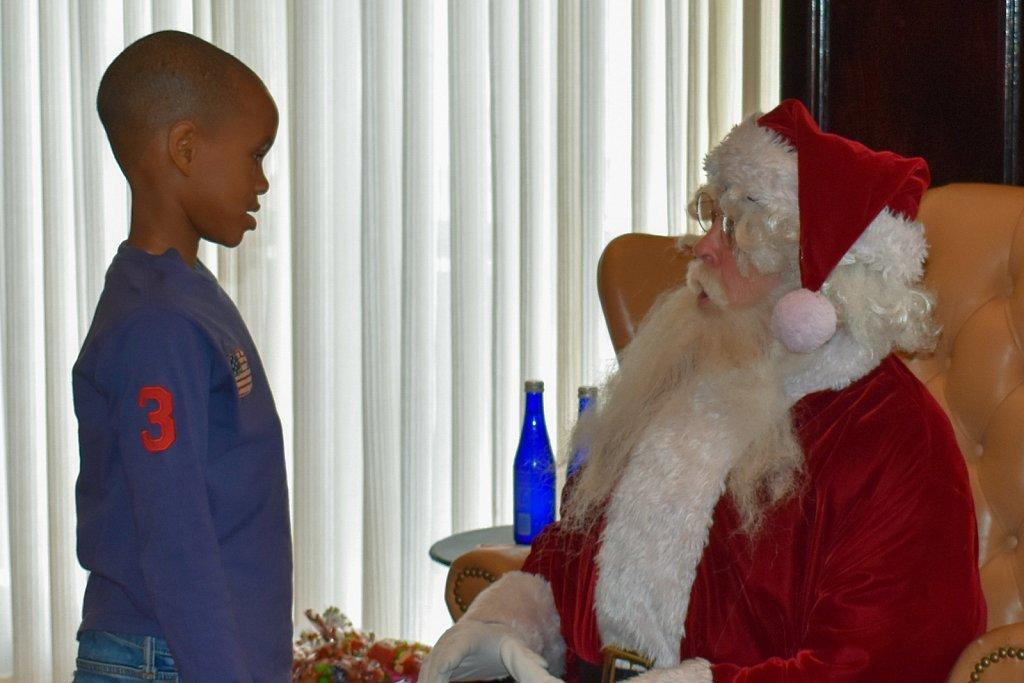 Santa in face-to-face negotiations