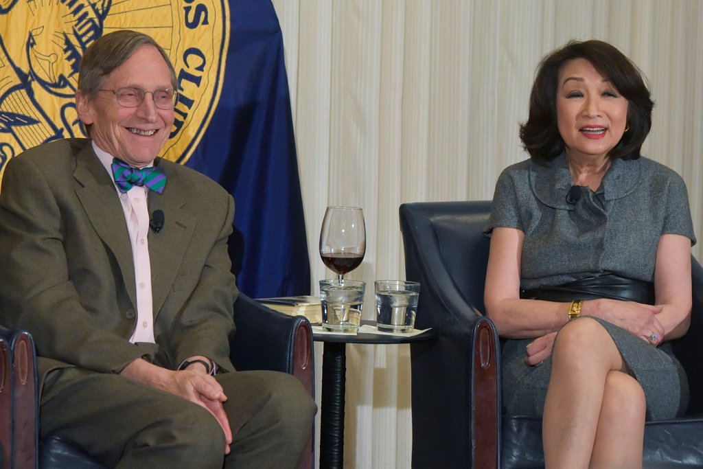 Tom Oliphant and Connie Chung