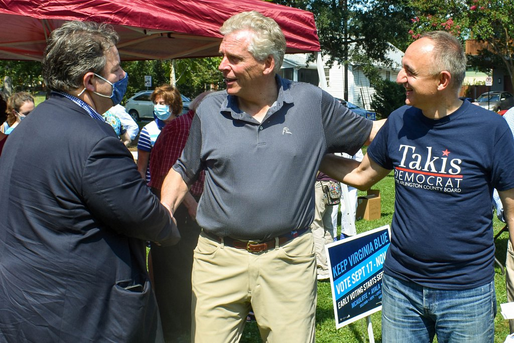 Terry McAuliffe greets local Dems