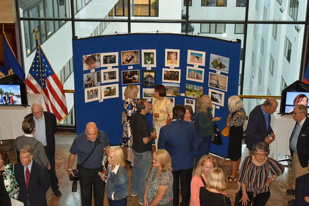 NPC photo exhibit reception